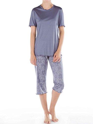 Calida - Ensemble de pyjama - À Fleurs - Femme bleu Blue Granite Large