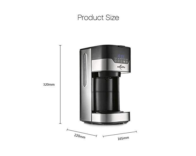 LHJCN Cafetera, Máquina de café de Filtro, Diseño Elegante para ...