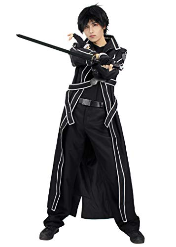 Dime Piece Halloween Costume (DAZCOS US Size Men's Kirito Cosplay Costume (Men XL))