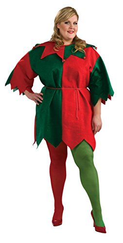 Rubie's Women's Elf Tights, Green/Red, Large ()