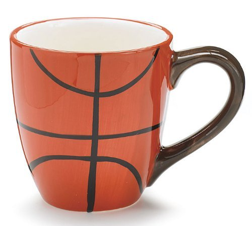 Ceramic 13 Oz Basketball Coffee Mug Great Gift for Basketball Sport Fans by Burton & Burton