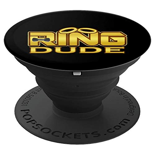 Ring Dude Funny Wedding Rings For Cute Junior Boys Groomsmen PopSockets Grip and Stand for Phones and Tablets]()