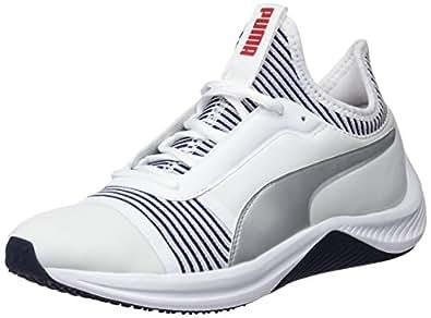 PUMA Women's Amp Xt WN's Wht-Peacoat Shoes, Puma White-Peacoat, 10 US