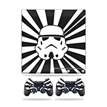 MightySkins Protective Vinyl Skin Decal for Sony PlayStation PS3 Slim Console wrap cover sticker skins Star Rays