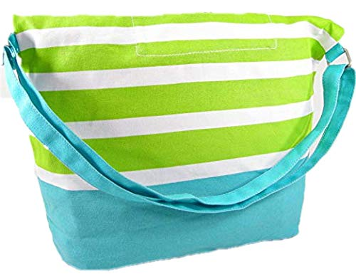 (Aeropostale Striped Fold-Over Tote Bag Retail: 39.50)
