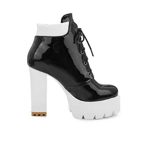 Alto Assortito Tacco Donna alla Caviglia Punta Colore Stivali Nero Tonda Odomolor q8ZBwIq