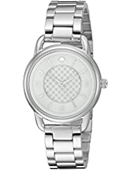 kate spade new york Womens KSW1165 Boathouse Analog Display Quartz Silver Watch