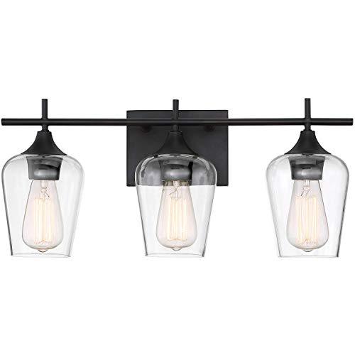 Modern Farmhouse 3-Light Industrial Bathroom Vanity Light Over Mirror, Wall Sconce for Makeup Dressing Table, Bath Bar…