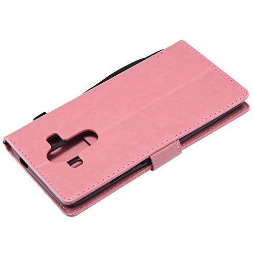 Huawei Mate 10Pro móvil, cowx funda de piel sintética para Huawei Mate 10Pro Funda gato algodón color rosa