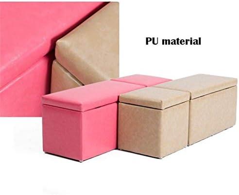 YUMUO Armoire à Chaussures Boîte de Rangement Siège Amovible Siège Amovible Tabouret rembourré Cubes Polyvalents Économie d'espace (Couleur: Vert)