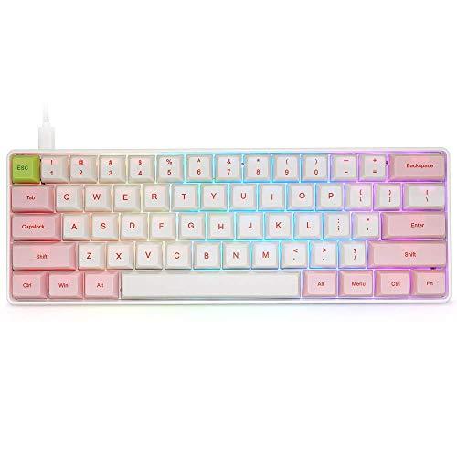 BOYI Mini RGB Gateron Switch PBT Keycap 60% RGB Mechanical Gaming Keyboard (Brown Switch)