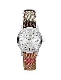 Burberry Women's Classic Round BU9151 Silver Leather Swiss Quartz Watch