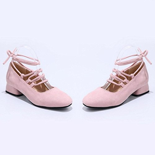 Heel Low Pink Up Women Lace Zuban Pumps Chila x1CfqpwYB1
