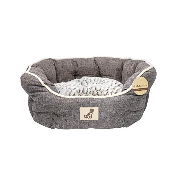 AllPetSolutions Alfie Range Beds Fleece Lined Warm Dog Bed, Small, Brown 1