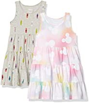 Spotted Zebra Girls Disney Star Wars Marvel Frozen Princess Knit Sleeveless Tiered Dresses Dress