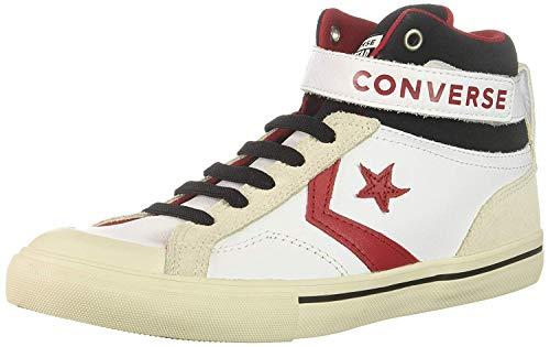 - Converse Boys' Pro Blaze Strap Leather High Top Sneaker, White/EGRET/Turtledove, 5 M US Big Kid