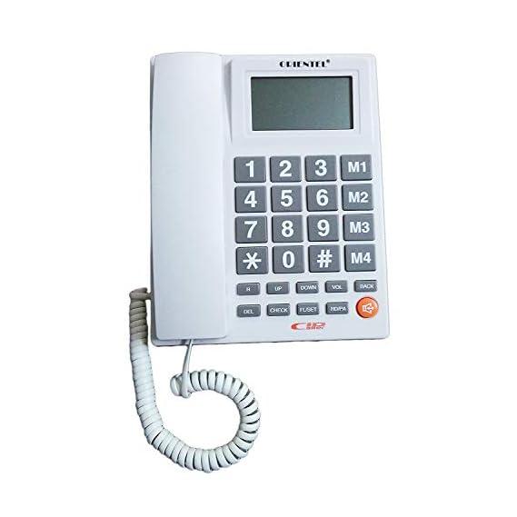 Dhruheer Good Use Orientel Landline Caller ID Phone Speaker Phone Telephone Corded Phone for Home & Office Purpose KX