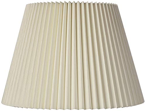 (Ivory Linen Knife Pleat Lamp Shade 9x14.5x10 (Spider) - Brentwood)