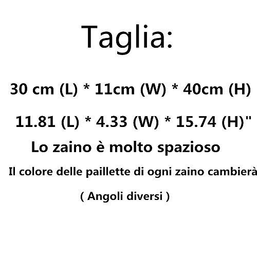 à angles avec de la couleur changement il pour différents paillettes chaque dos spacieux paillettes très Sac des femme est ; TqIdTgw