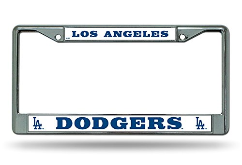 Rico Industries Los Angeles Dodgers License Plate Frame Chrome -
