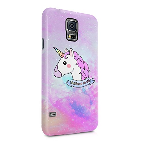 Unicorn Head Believe In Us Hard Plastic Phone Case For Samsung Galaxy S5 Mini ()
