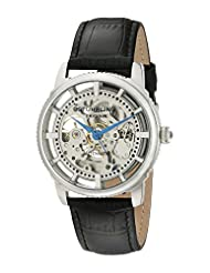 Stuhrling Original Men's Lifestyle Winchester Automatic Skeleton Silvertone Watch 393.33152