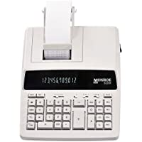 Monroe Systems for Business 6120X Genuine Monroe 12-Digit Print/Display Business Medium-Duty Calculator, Ivory