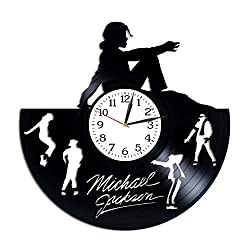Kovides Michael Jackson Clock Lp Vinyl Retro Record Wall Clock Modern Music Art King of Pop Gift Birthday Gift for Woman Michael Jackson Gift Xmas Gift Idea for Fan Wall Clock Exclusive