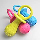1Pcs Rubber Nipple Dog Toys For Pet Chew Teething Train Cleaning Poodles Small Puppy Cat Bite Best Pet Dogs Supplies (Random Color)