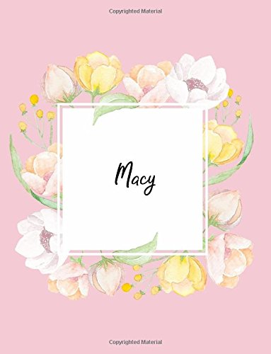 Macy: 110 Ruled Pages 55 Sheets 8.5x11 Inches Water Color Pink Blossom Design for Note / Journal / Composition with Lettering Name,Macy ebook