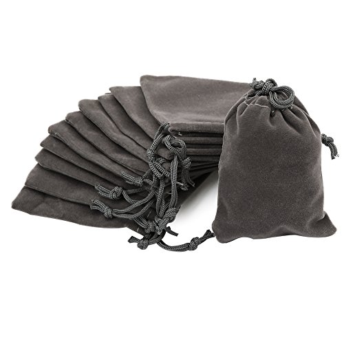 Shintop 10pcs Velvet Drawstring Bags Wedding Gift Bags Velvet Cloth Jewelry (Cloth Jewelry Bags)