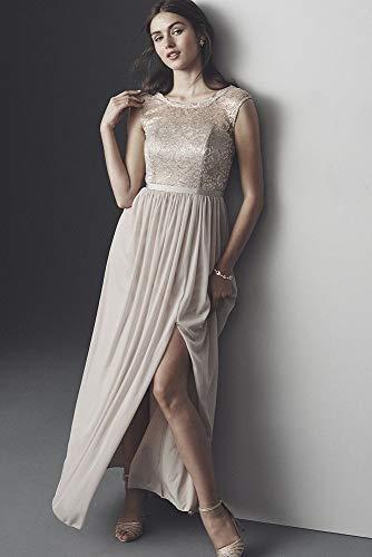 Dentelle Robe De Demoiselle D'honneur Longue De Mariée De David Corsage De Style F19328 Parfait