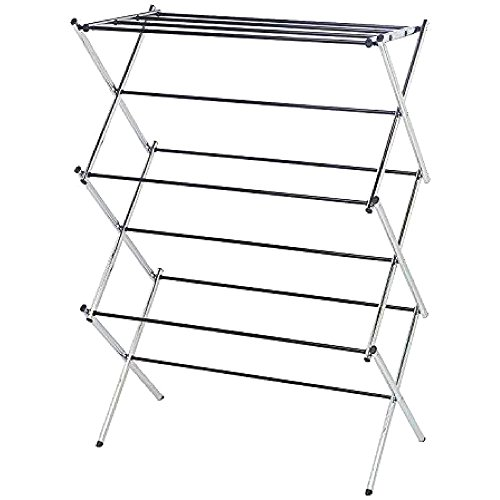 GHY Accordian Drying Rack Laundry Hanging Clothes Small Coll