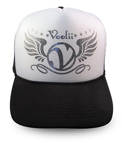 (Voolii Men's V-Wings Glitter Trucker Mesh Hat One Size)