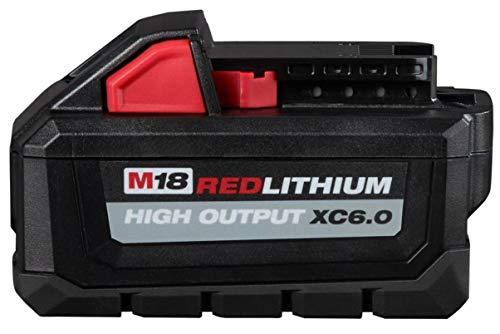 Milwaukee 48-11-1865 M18 18-Volt Lithium-Ion High Output Battery Pack 6.0Ah