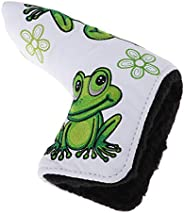 Durable Sports Golf Club Putter Head Cover Drivers Protector & Magnetic Closure with Frog & Clover Pat