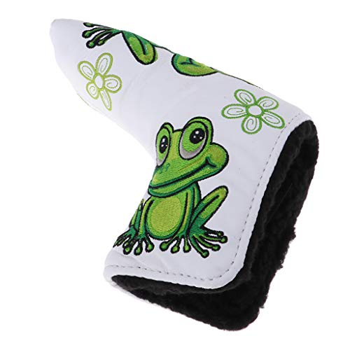 DYNWAVE Durable Sports Golf Club Putter Head Cover Drivers Protector & Magnetic Closure with Frog & Clover Pattern for Blade Style