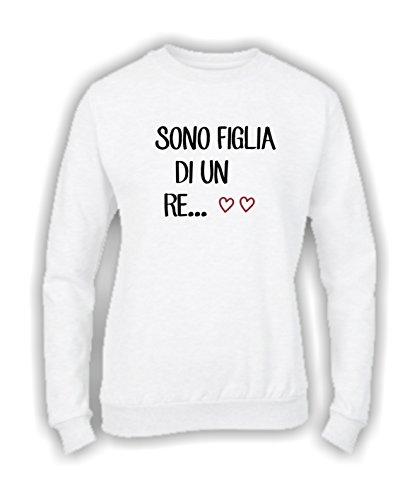 Un Un Un Basic Humor Social Top RE RE RE RE qualità Bianco Divertente di Figlia Crazy Donna vestibilità Girocollo Felpa Top Italy Sono Made in wf1qI7