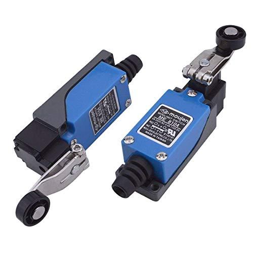 URBEST 2Pcs ME-8104 Revolving Plastic Adjustable Roller Level Arm Momentary Limit Switch