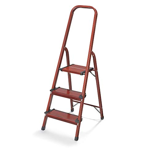 (Polder Wood Grain 3-Step Aluminum Ladder)