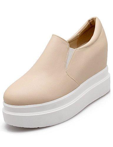 5 Cn38 Eu38 Mocasines Uk5 De 5 Uk2 5 us4 Zapatos Punta Negro 5 Semicuero Cn33 2 Eu34 us7 4 Casual White Beige Blanco Mujer Beige Redonda Zq Plataforma nHWpx4SSY