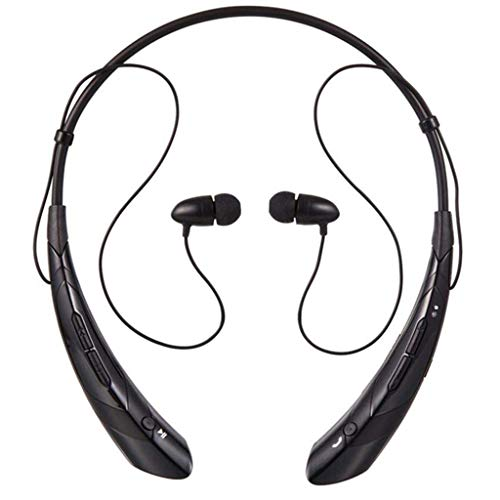 Kitt Bluetooth 4.0+EDR Hanging Neck Sports Headset Halter Headphone in-Ear Earphone Stereo Microphone Earbuds with 4X Ear Cap Black