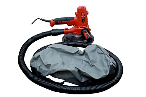 iBELL Dry Wall Sander DS80-70, 180MM, 800W, 1200-2300rpm with Vacuum and LED Light 4