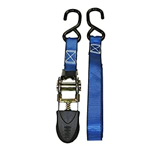 Phatomx Blue Ratchet Tie Down Motorcycle Strap 1200 lbs 6-Pack