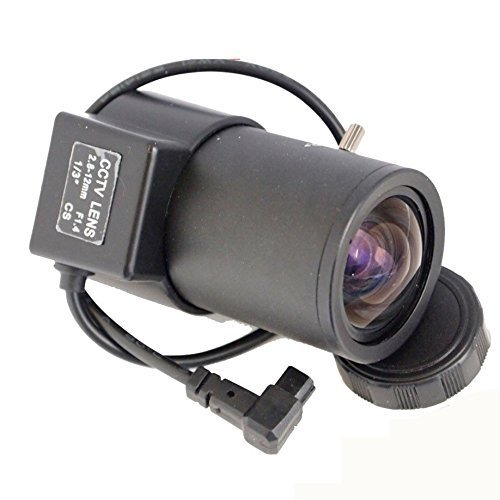 Vanxse 2.8-12mm 1/3 Auto-iris Varifocal Lens Cs-mount Dc Drive for Cctv Security Camera 1/3 Inch F1.4