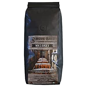 Whiskey Barrel Aged Coffee - Single origin Nicaruaguan Coffee aged in Whiskey Barrels - Home Brew Coffee Company Gourmet and Specialty Coffee - 1 Pound of Whole Beans