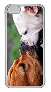 iPhone 5C Case, Personalized Custom Two Dogs Playing for iPhone 5C PC Clear Case