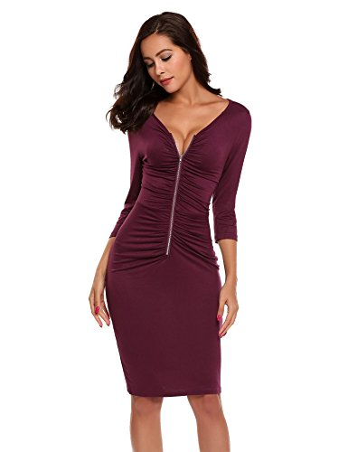 Ruched Front Dress - 2