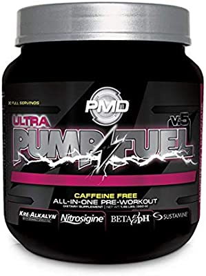 73c8177271a Amazon.com  PMD Sports Pump Fuel Caffeine Free Insanely Strong All-in-One  Premium Pre-Workout Drink Without Caffeine - Raspberry Lemonade   30  Servings  ...