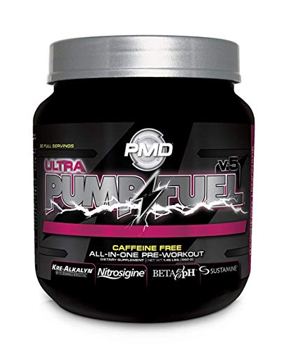 PMD Sports Pump Fuel Caffeine Free Insanely Strong All-in-One Premium Pre-Workout Drink Without Caffeine - Raspberry Lemonade / 30 Servings